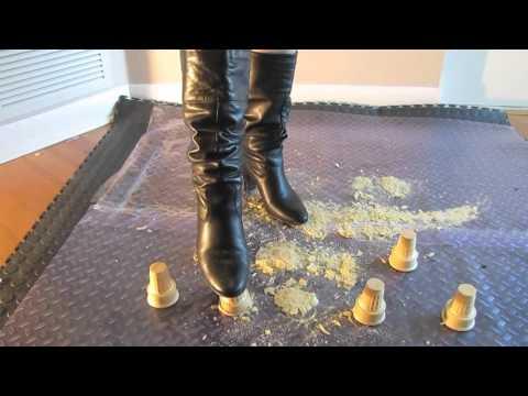 Crush Ice Cream Cones _ crushed beneath her boots