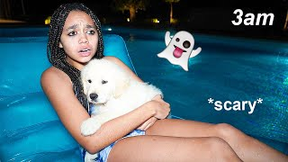 SNEAKING INTO MY POOL TO SWIM AT 3AM **Did I Get Caught?**