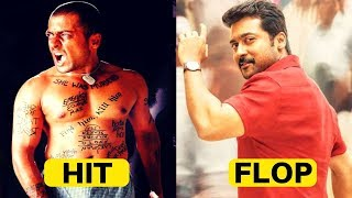 Surya Hit and Flop Movies, Surya All Movies Box Office Collection, Complete Movies List