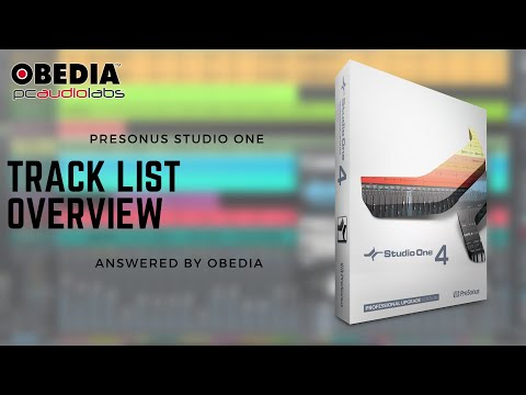 Get Started with Studio One: Track list overview Studio One