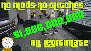 GTA Online Hitting $1,000,000,000 Billion Legitimately No Glitch, No Mod, No Shark Cards