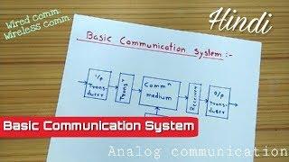 Basic Communication System || Analog Communication