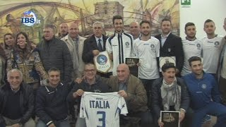 preview picture of video '2015-03-20 La Nazionale di calcio Sordi a Mazara del Vallo'