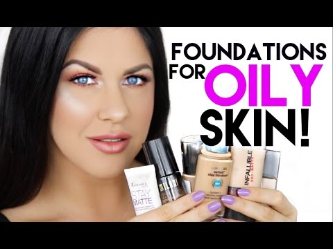 THE BEST AFFORDABLE/DRUGSTORE FOUNDATIONS FOR OILY SKIN!!!