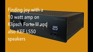 Finding Joy With A 10 Watt Tube Amp On Klipsch And KEF Speakers #tubeamps