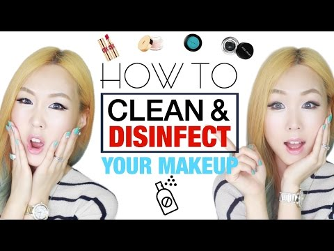 How To Clean and Disinfect Your Makeup 화장품 세척 관리법