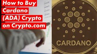 So stellen Sie Cardano auf crypto.com ein