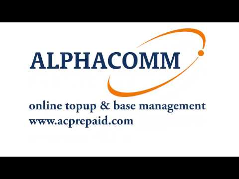 Alphacomm Online topup and base management