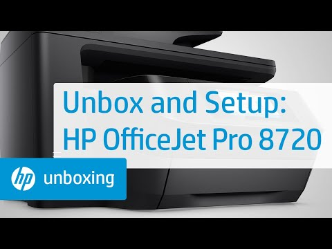 Unboxing, Setting Up, and Installing the HP OfficeJet Pro 8720 Printer