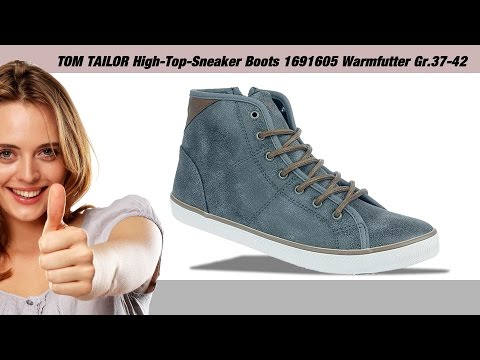 TOM TAILOR Damen High-Top-Sneaker Boots 1691605 Warmfutter Gr.37-42