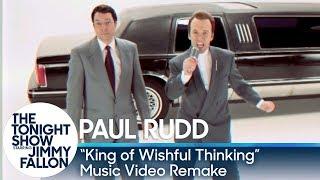 """Mix - Jimmy Fallon and Paul Rudd Recreate """"King of Wishful Thinking"""" Music Video"""