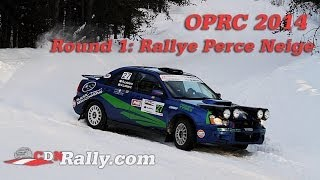 preview picture of video 'OPRC 2014 Round 1 - Rallye Perce Neige'