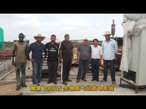 planta de energía de gasificación de biomasa, el arroz cáscara de la gasificación de la electricidad