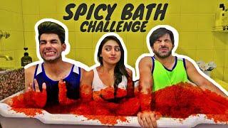 Spicy Bath Challenge   Rimorav Vlogs