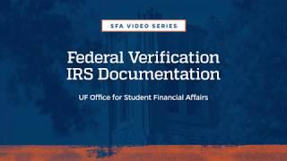 Federal Verification IRS Documentation