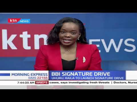 Uhuru, Raila to launch BBI signature collection drive today, exercise targets 4 million signatures