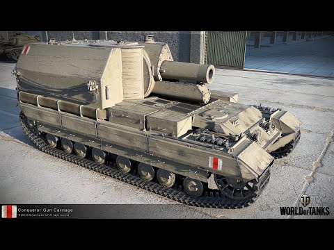 Танкосмотр2019 #36. Британия. АРТ-САУ (веткa Conqueror Gun Carriage) | World of Tanks