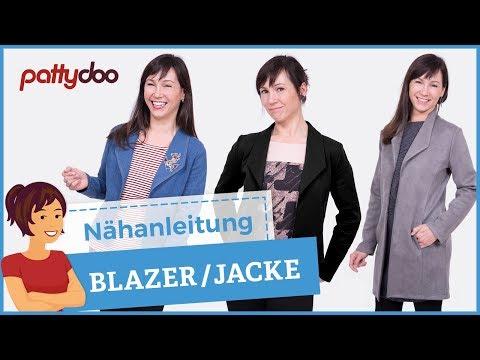 Blazer nähen mit Nahttaschen, Kragen und Ziernähten