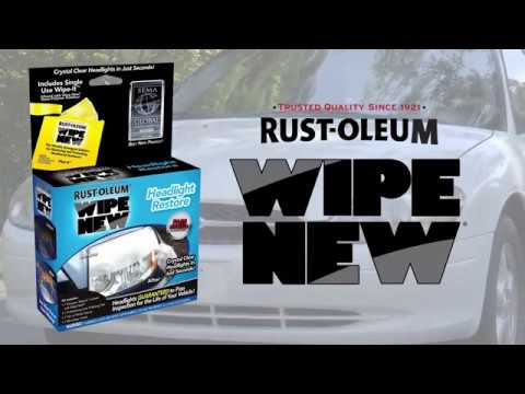Rust Oleum Wipe New Headlight