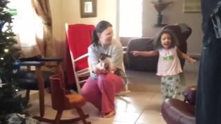 Реакция детей когда им дарят животных!!