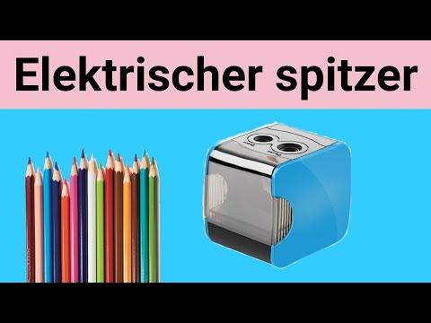 Elektrischer Anspitzer mit Behälter,USB und Batterie Betrieben Bleistiftspitzer