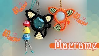 Macrame CAT Pattern Tutorial 😺🐱😼 The Macrame KITTY Key Chain For Iphone 8