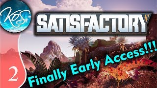 Satisfactory Ep 2: CLOCKING ALL THE MACHINES - Early Access / Desert Beauty - Let's Play, Gameplay