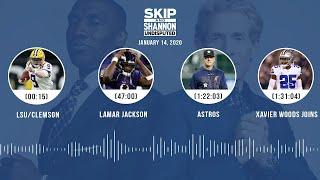 LSU/Clemson, Lamar Jackson, Astros, Xavier Woods joins (1.14.20) | UNDISPUTED Audio Podcast