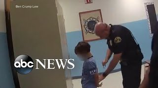 Outrage over 2018 video of 8-year-old being handcuffed