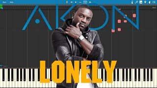 Akon - Lonely || Piano Tutorial || VERY EASY !!!
