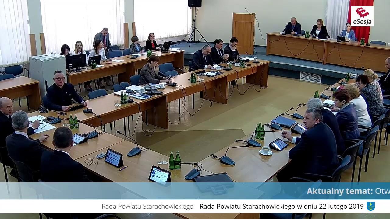 VI Sesja Rady Powiatu w Starachowicach 22.02.2019r.