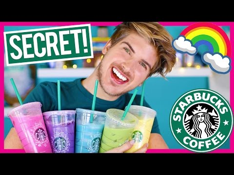 Video TASTING STARBUCKS SECRET MENU RAINBOW DRINKS!