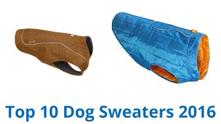 10 Best Dog Sweaters 2016