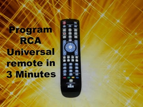 How to program your tv with rca universal remote