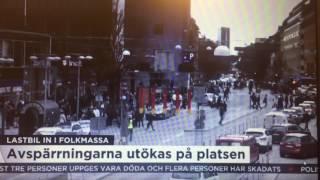 LIVE: Первое видео с места событий в Стокгольме