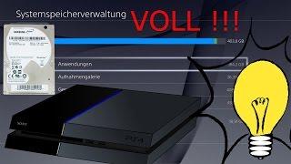 PS4 Festplatte wechseln TUTORIAL