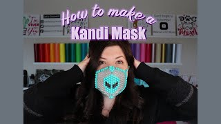 HOW TO MAKE A KANDI/BEADED MASK! Step By Step How To/tutorial!