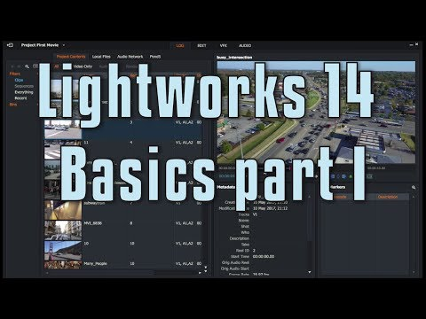 Lightworks 14 – Basics 1