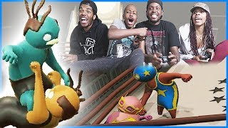 EPIC TAG TEAM WRESTLING MATCH! - Gang Beasts Gameplay