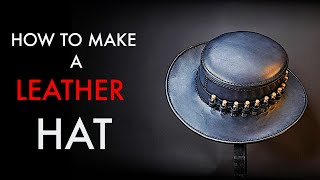 DIY Leather Hat- Tutorial And Pattern Download