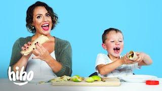Oscar Tries His Mom's Favorite Childhood Snack | Kids Try | HiHo Kids