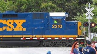 Two Road Slugs On An All-EMD CSX Train