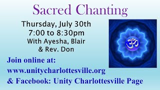 This month we Chant for Oneness.