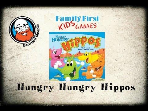 Bearded Meeple reviews Hungry Hungry Hippos
