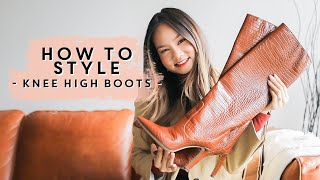 HOW TO WEAR & STYLE - Knee High Boots | Victoria Hui