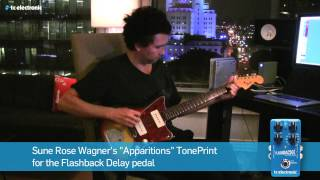 Sune Rose Wagner (The Raveonettes) demoes his 'Apparitions' Delay TonePrint