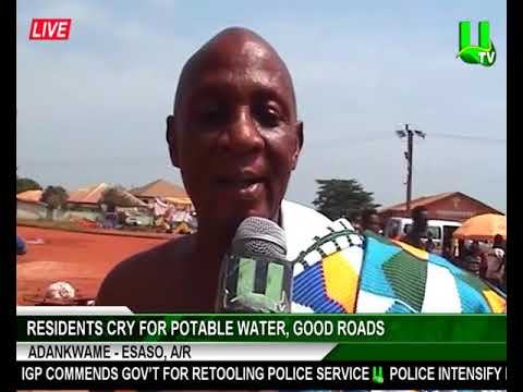 Residents cry for potable water, good roads