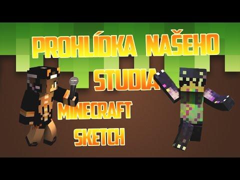 Prohlídka našeho studia • Minecraft Sketch CZ/SK • TSC