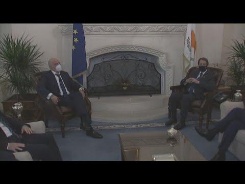 Συνάντηση Νίκου Δένδια με τον Πρόεδρο της Κυπριακής Δημοκρατίας Νίκο Αναστασιάδη