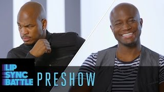 NEYO and Taye Diggs talk singing not singing Battle prep abs and more